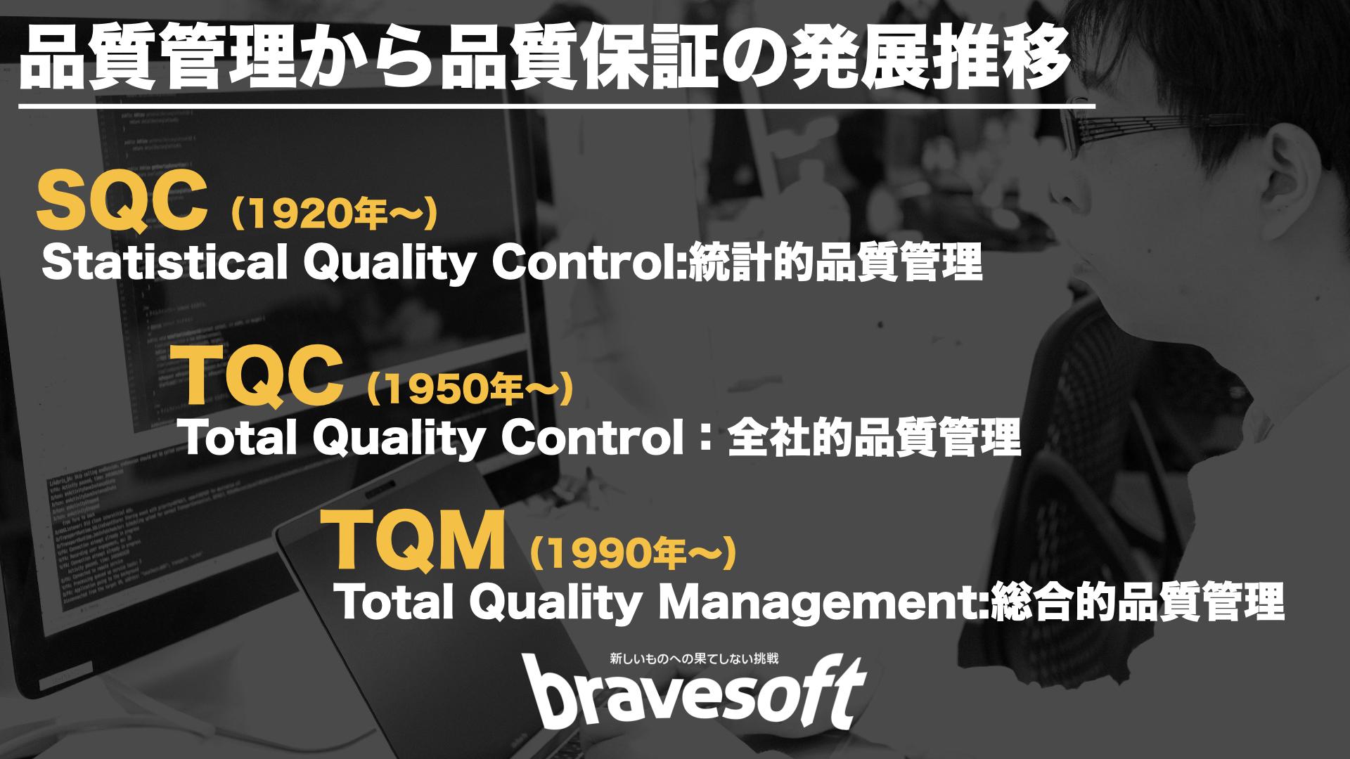 品質管理から品質保証の発展推移|bravesoft